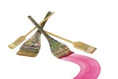 japanska paintbrushes royaltyfri bild