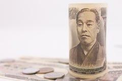 Japanska pengar Arkivbild