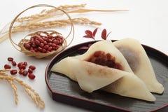 Japanska röda Bean Paste Sweets, japansk mat royaltyfria foton