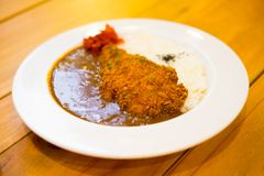 Japanska ris för matTonkatsu curry Arkivbilder