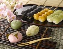 japanska sötsaker arkivfoton