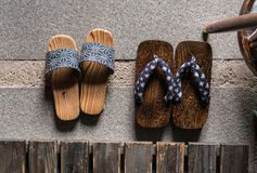 japanska sandals royaltyfria bilder
