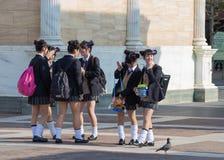 japanska schoolgirls royaltyfria foton