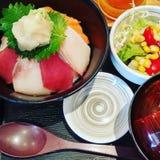 Japanska shashimiris Fotografering för Bildbyråer