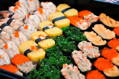 Japanska sushi. Royaltyfri Fotografi