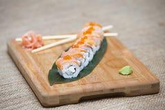 Japanska Sushi Rolls Arkivbilder