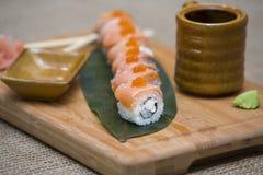 Japanska Sushi Rolls Arkivbild
