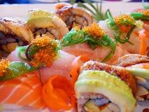 Japanska sushivariationer royaltyfri fotografi