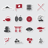 Japanska temaklistermärkear fastställd eps10 Arkivbilder
