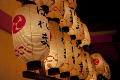 Japanska traditionella lyktor arkivfoton