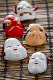 Japanska traditionella maskeringar Arkivfoto