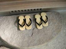 Japanska traditionella skor Arkivfoto