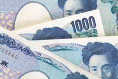 1000 japanska yen Arkivfoton