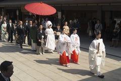 Japanskt bröllop Arkivfoton