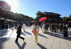 japanskt bröllop arkivfoto