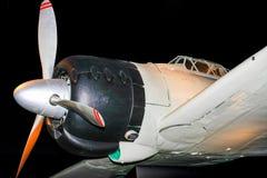 Japanskt flygplan för kämpe för världskrig två Royaltyfri Fotografi
