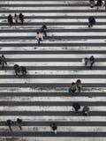 Japanskt folk på en korsning royaltyfri foto