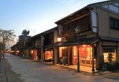 Japanskt gammalt hus Kanazawa Japan för Nishi chaya Royaltyfri Bild