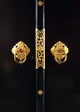 Japanskt guld- dörrhandtag Arkivfoton