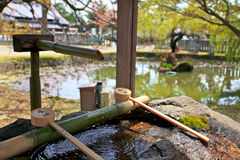 Japanskt heligt vatten, Nara Park, Japan Fotografering för Bildbyråer