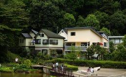 Japanskt hus Fotografering för Bildbyråer
