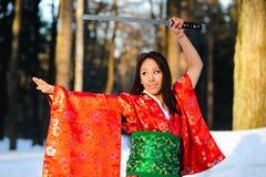 japanskt kvinnabarn royaltyfri foto