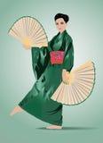 japanskt kvinnabarn Arkivfoto