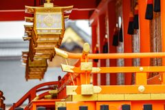 japanskt lyktatempel Royaltyfri Foto