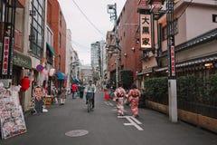 Japanskt på gatorna arkivfoto
