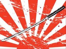 japanskt samuraisvärd Arkivfoto