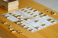 Japanskt schack royaltyfri fotografi