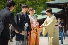 japanskt shintobröllop för ceremoni Arkivfoto