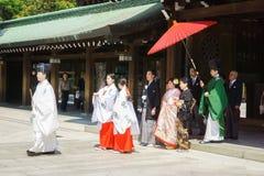 japanskt shintobröllop för ceremoni Royaltyfri Bild