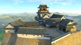 Japanskt slott Fotografering för Bildbyråer