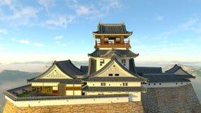 Japanskt slott Royaltyfria Bilder