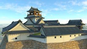 Japanskt slott Royaltyfri Bild