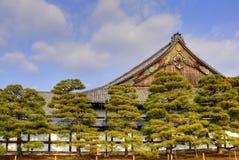 Japanskt slottlandskap Arkivbild