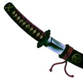 japanskt svärd Arkivfoton