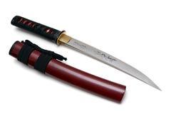 Japanskt svärd och slida Fotografering för Bildbyråer