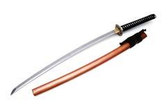 Japanskt svärd och slida Arkivbilder