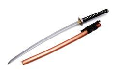 Japanskt svärd och slida Royaltyfri Bild