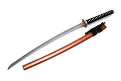 Japanskt svärd och slida Arkivfoto