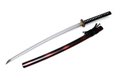 Japanskt svärd och slida Arkivfoton