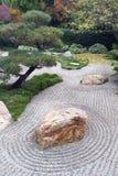 Japanskt torrt landskap trädgården Arkivbild
