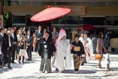 japanskt traditionellt bröllop för beröm Arkivfoton