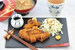 JapanTonkatsu mål Fotografering för Bildbyråer