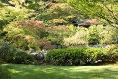 Japanträdgård Fotografering för Bildbyråer