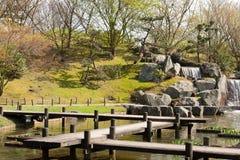 Japanträdgård, Hasselt, Belgien Arkivbilder