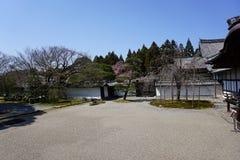 Japanträdgård i den Daigoji templet, Kyoto Arkivbild