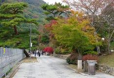 Japanträdgård i höst, Nara Royaltyfri Foto